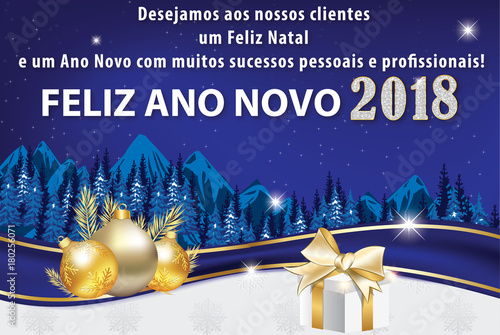 Corporate greeting card with portuguese text we wish to our clients corporate greeting card with portuguese text we wish to our clients a merry christmas and m4hsunfo