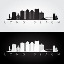 Long Beach Usa Skyline And Lan...