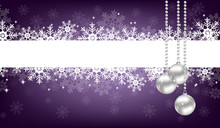 Purple Christmas Background Of...