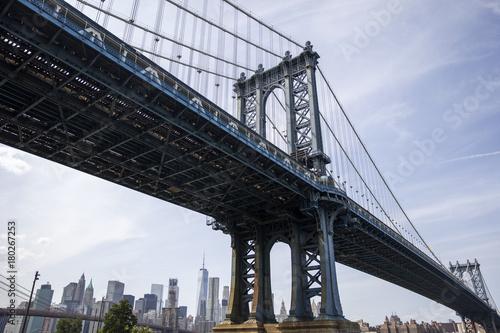 Tuinposter Art Studio Manhattan Bridge in New York City