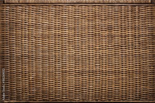 Obraz Wicker basket texture. Background - fototapety do salonu