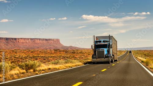 Fototapeta premium Ciężarówka w południowo-zachodniej części USA
