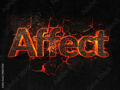 Fotografija  Affect Fire text flame burning hot lava explosion background.