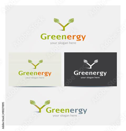 Logo Icne Lettre Y Feuillage Ecologie Energie Renouvelable Carte De Visite Et Charte Graphique Entreprise Plusieurs