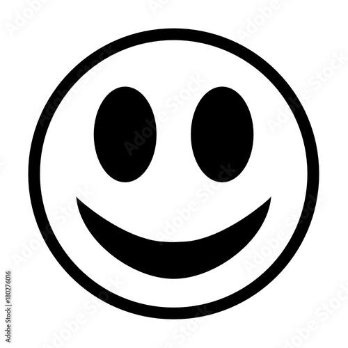 uśmiech człowieka ikona Tableau sur Toile