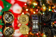 Watches With Bitcoin Close Up ...