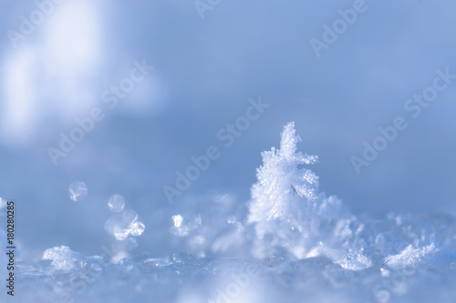 Beautiful macro shot of crystals in form of Christmas tree