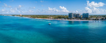 Panorama View Of The Tropical Paradise Of The Cayman Islands In The Caribbean Sea