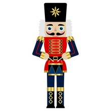 Vector Illustration Of A Nutcracker With A Drum