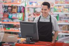 Happy Asian Male Shopkeeper