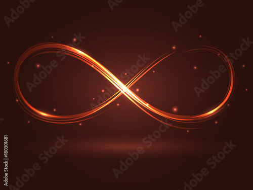 Fotografie, Obraz Vector illustration with the sign of infinity