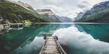 Lovatnet Lake Near Geiranger Fjord In Norway