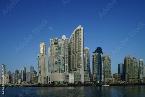 Recess Fitting Shanghai Early morning view of Panama City skyscrapers, Panama