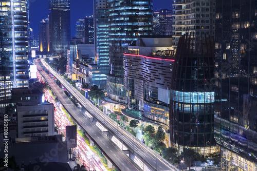 Fotomural Traffic jam at Kuningan Jakarta