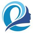 Leinwanddruck Bild - design the silhouette of the female face forming the letter E