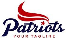 Typography Design Patriot With Icon Flag
