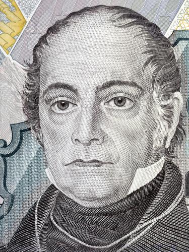 Photo Andres Bello portrait from Venezuelan money