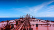 canvas print picture - An oil tanker sailing in Indian Ocean