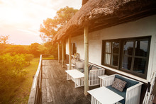Open Terrace Of A Cottage In T...