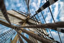 Bark Krusenstern, Sails And Ro...