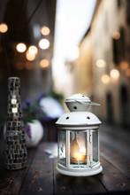 Still Life With Burning Lantern