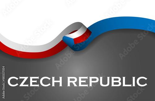 Photo  Czech republic sport style flag ribbon classic style