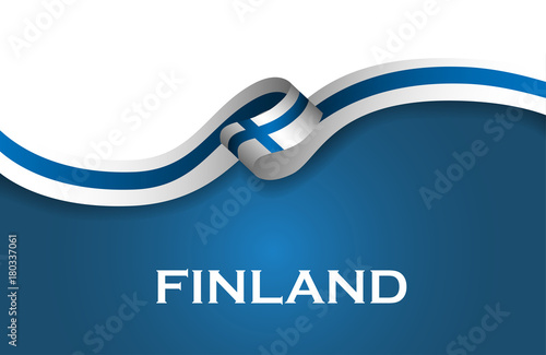 Finland sport style flag ribbon classic style фототапет