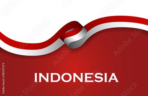 Fotografía  Indonesia sport style flag ribbon classic style