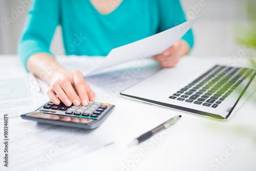Fototapeta The concept of tax settlement. obraz