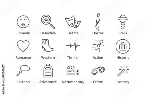 Genres. Include detective, comedy, sci-fi etc Wallpaper Mural