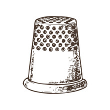 Thimble For Sewing, Sketch Ill...