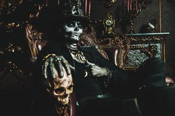 Baron Samedi z czaszką