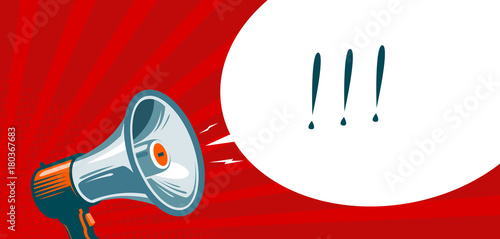 loudspeaker megaphone bullhorn advertising promotion banner vector illustration buy this stock vector and explore similar vectors at adobe stock adobe stock adobe stock