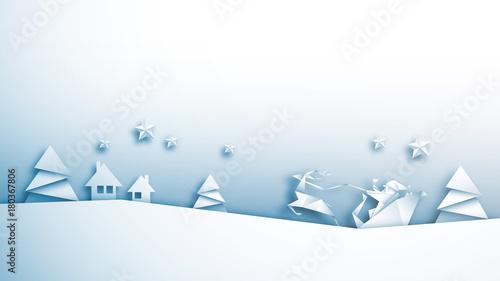 Fototapeta boże narodzenie origami wektor obraz