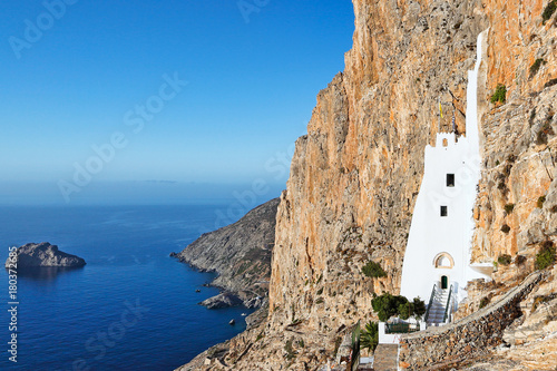 The monastery of Hozoviotissa in Amorgos, Greece Wallpaper Mural