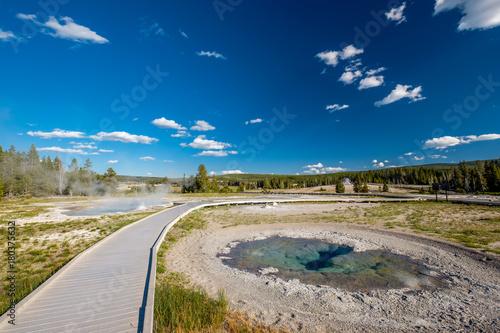 Keuken foto achterwand Verenigde Staten Boardwalk in Yellowstone National Park