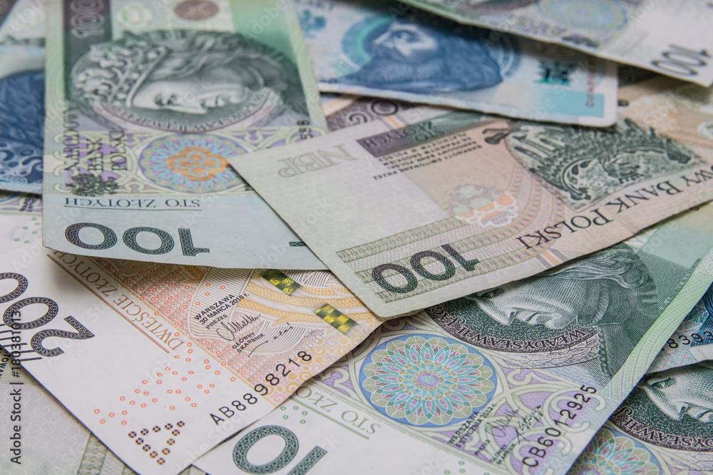 Fototapety, obrazy: Polskie banknoty