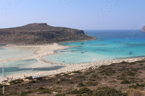 Poster Cote A beautiful view of blue Balos lagoon and beach in Crete Island, Greece.