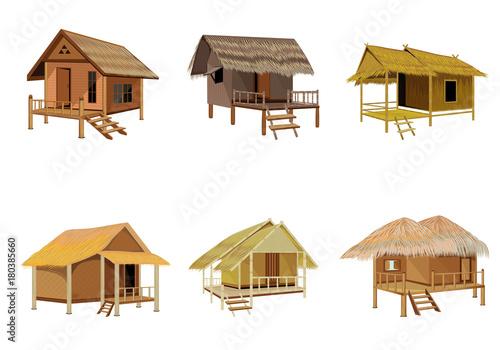 Fotografía grass hut vector design
