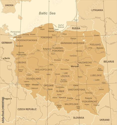 polska-mapa-vintage-ilustracji-wektorowych