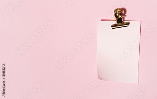 Obraz na płótnie sticky note on pink background