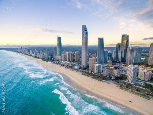 An aerial view of Surfers Paradise on the Gold Coast, Australia Tapéta, Fotótapéta