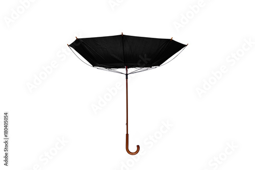 Inside Out Black Umbrella Center on White Background Tablou Canvas