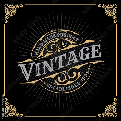 Foto auf AluDibond Retro Vintage Luxury Banner Template Design