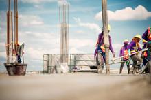 Construction Worker Concrete P...
