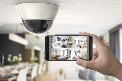 Photo  mobile connect with security camera