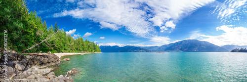 Poster Bergen Fantastic view of Harrison Lake nature summer