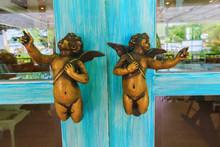 Door Handle With Cupid Shape D...
