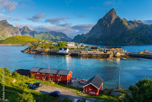 Foto auf Gartenposter Skandinavien Lofoten Summer Landscape Scenic