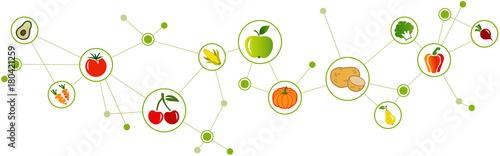 vegan diet design Canvas Print